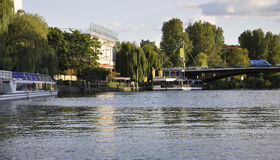 Berlin,Germany-august 27:River Spree landscape from Berlin in Germany stock photos