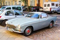 Volvo 1800S. Berlin, Germany - August 12, 2014: Sports car Volvo 1800S in the city street royalty free stock image