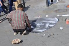 Berlin,Germany-august 27:Street Artist from Berlin in Germany Stock Photography