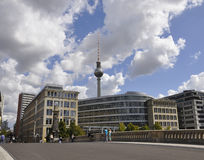Berlin,Germany-august 27:Tv Tower from Berlin in Germany Royalty Free Stock Photography