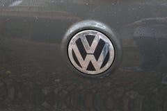 Volkswagen motor company emblem on a black car. Berlin, Germany - August 31, 2017: Volkswagen motor company emblem on the front from a black car. Volkswagen Stock Photo