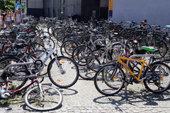 Berlin, Germany. The bike parking in city center Stock Photo