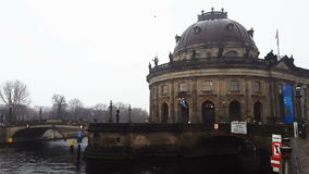 Berlin, Germany The Bode Museum facade. stock footage