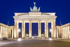 Berlin Germany at Brandenburg Gate Royalty Free Stock Photos