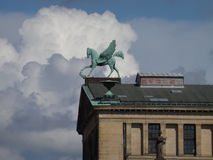 2014 Berlin Germany, cavalo voado Imagens de Stock Royalty Free