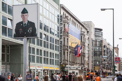 BERLIN, GERMANY. Checkpoint Charlie. Stock Photo