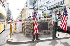 BERLIN, GERMANY. Checkpoint Charlie. Royalty Free Stock Photos