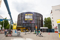 BERLIN, GERMANY. Checkpoint Charlie. BERLIN, GERMANY - MAY 10, 2015: Checkpoint Charlie. The crossing point between East and west Berlin became a symbol of the stock images