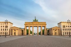 Berlin Germany at Brandenburg Gate royalty free stock images