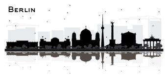 Berlin Germany City Skyline Silhouette avec l'isolant noir de bâtiments illustration libre de droits