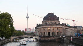 Berlin, Germany cityscape early stock footage