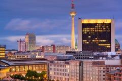 Berlin, Germany Cityscape. At twilight Royalty Free Stock Image
