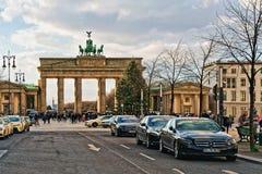Berlin, Germany - December 8, 2017: Brandenburg Gate Building in Berlin, Germany.  stock photo