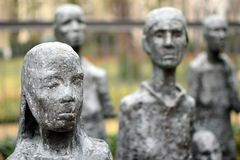 BERLIN, GERMANY - December 16 2017: Detail of Will Lammert`s sculpture `Jewish Victims of Fascism`. Detail of Will Lammert`s sculpture `Jewish Victims of Fascism royalty free stock photos