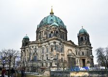Berlin, Germany - December 30, 2017: Downtown Berlin on a winter Royalty Free Stock Photography