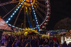 Alexanderplatz christmas market, Berlin royalty free stock images