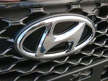 Hyundai car. Berlin, Germany - December 26, 2017: Hyundai car. The Hyundai Motor Company is a South Korean multinational automotive manufacturer stock photo
