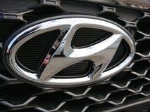 Hyundai car. Berlin, Germany - December 26, 2017: Hyundai car. The Hyundai Motor Company is a South Korean multinational automotive manufacturer royalty free stock photography