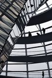 BERLIN, GERMANY - December 17 2017: Inside view of dome in Reichstag building. stock image