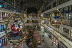 Mall of Berlin interior christmas decoration royalty free stock photo