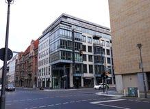 Modern architecture in Berlin. BERLIN, GERMANY - December 3, 2017: Modern architecture in Berlin Stock Image