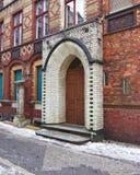 Berlin Germany, entrada colorida de la casa del vintage arqueó la puerta imágenes de archivo libres de regalías