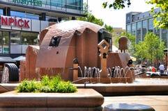 Berlin, Germany: Europa Platz Fountain Royalty Free Stock Photo