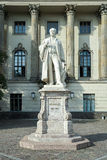 BERLIN, GERMANY/EUROPE - SEPTEMBER 15 : Helmholtz statue outside Royalty Free Stock Photo