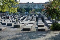 BERLIN, GERMANY/EUROPE - SEPTEMBER 15 : Jewish War Memorial in B. Erlin Germany on September 15, 2014. Unidentified people stock images