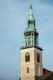 BERLIN GERMANY/EUROPE - SEPTEMBER 15: Kyrka Marienki för St Marys arkivfoto