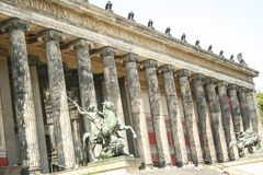 Altes Museum Berlin. At BERLIN, GERMANY - ON 08/31/2013 - The facade of Altes Museum in Berlin stock images