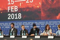 Edwin Thomas, Rupert Everett and Emily Watson at Berlinale 2018 royalty free stock photos