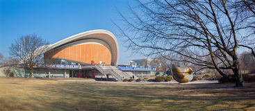 BERLIN, GERMANY, FEBRUARY - 13, 2017: The building House of the Cultures of the World Haus der Kulturen der Welt Royalty Free Stock Photo
