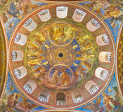 BERLIN, GERMANY, FEBRUARY - 15, 2017: The cupola of Rosenkranz Basilica. By Friedrich Stummels, Karl Wenzel, and Theodor Nuttgens from begin of 20. cent royalty free stock image