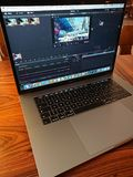 Apple MacBook Pro computer and DaVinci Resolve editing software. Berlin, Germany - February 12, 2018: DaVinci Resolve editing software on Apple MacBook Pro Stock Photo