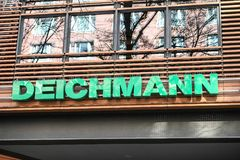Deichmann shoe store royalty free stock images
