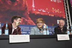 Ed Sheeran and Murray Cummings during Berlinale 2018 royalty free stock image