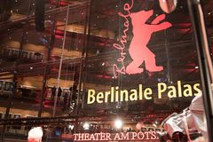 Berlinale Palast exterior during the 68th Berlinale Film Festival 2018. Berlin, Germany - February 22, 2018: Facade of the Berlinale Palast in Berlin or the Royalty Free Stock Photo