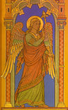BERLIN, GERMANY, FEBRUARY - 15, 2017: The fresco of archangel Gabriel as detail of Annunciation in St. John the Baptist basilica Royalty Free Stock Photos