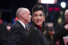 Cintia Gil during the 68th Berlinale 2018 royalty free stock photo
