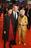 Cintia Gil, Eric Schlosser and Ulrike Ottinger during the 68th Berlinale 2018. Berlin, Germany - February 24, 2018: Glashuette Documentary Award Jury members royalty free stock photos
