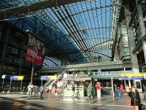 Berlin DB Deutsche Bahn Hauptbahnhof royalty free stock image