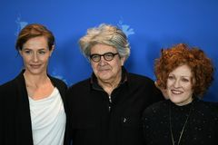 Jury members of the 68th edition of the Berlinale Film Festival 2018 stock images