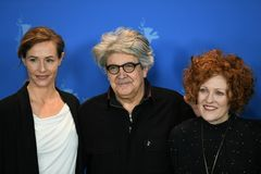 Jury members of the 68th edition of the Berlinale Film Festival 2018. Berlin, Germany - February 15, 2018: Jury members of 68th edition of the Berlinale Film royalty free stock images