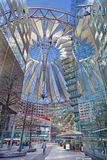 BERLIN, GERMANY, FEBRUARY - 15, 2017: The Sony center in morning. The centre was designed by Helmut Jahn and Peter Walker  as landscape architect and Stock Photo