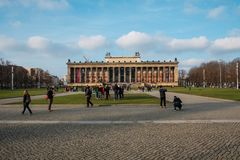 """Altes Museum"""" german for Old Museum on Museum Island in Berlin. Berlin, Germany - january 2019 : The front facade of the """"Altes Museum"""" german royalty free stock photography"""