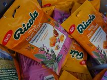 Ricola candies for sale stock photography