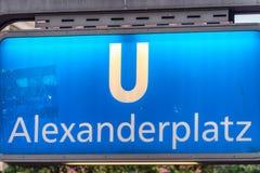 BERLIN, GERMANY - JULY 23, 2016: Alexanderplatz metro S-Bahn   Stock Photos