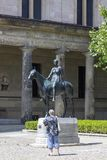 Amazon on horseback - a sculpture of the German sculpture of Louis Tuaillon 1895 on the Museum Island in Berlin. Berlin, Germany - July 01, 2018: Amazon on royalty free stock photos
