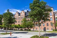 Campus Charite Mitte of Charite Universitatsmedizin Berlin, Germ. BERLIN, GERMANY - JULY 1, 2014: The Charite Universitatsmedizin Berlin, Europe`s largest Royalty Free Stock Image
